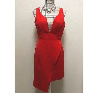 🆕 GB red revealing cut dress